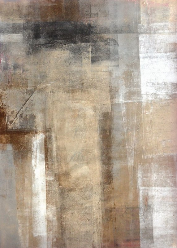 T30 Gallery/Brown and Beige Abstract Art Painting