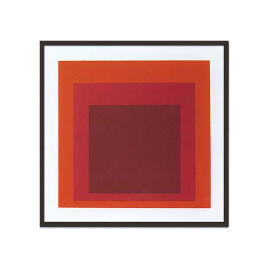 Josef Albers(ジョセフ・アルバース)/Study for homage to the square1970(Silk screen)