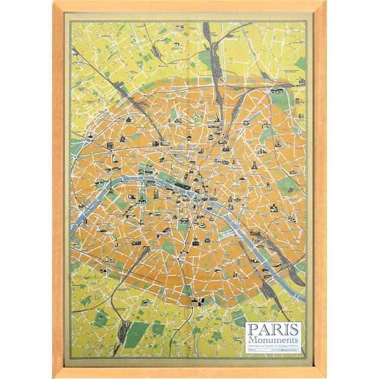 Cavallini Map Series/Paris Monuments