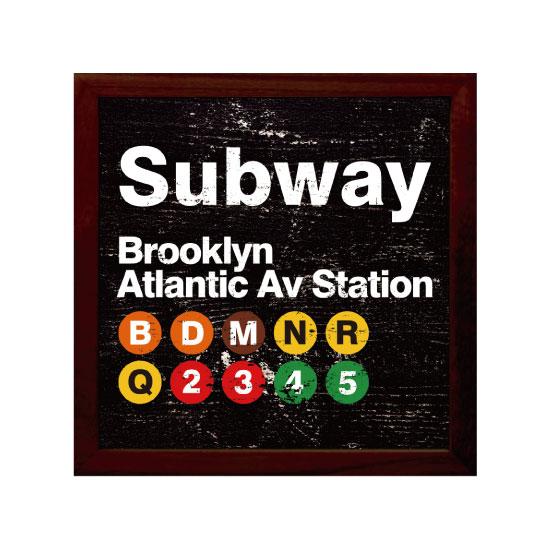 《キャンバスアート》Subway