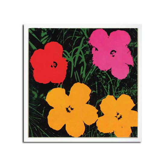 アンディ・ウォーホル(Andy Warhol) Flowers,1964(1red,1pink,2yellow)