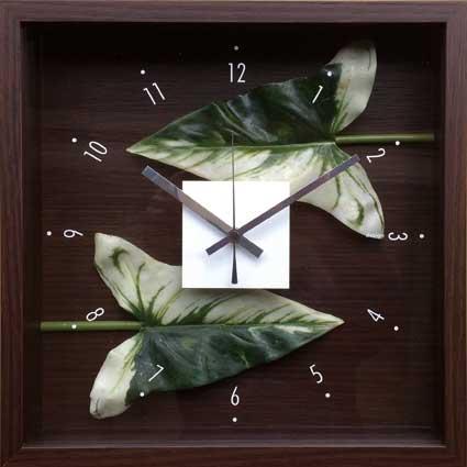 F-Style Clock Anthurium Leaf 【掛時計】アンスリウムリーフ