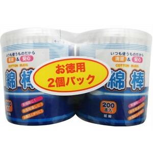 耳掃除やお化粧直しに便利な紙軸綿棒です 《COCORO》 200本入×2P 綿棒 ショッピング 好評受付中