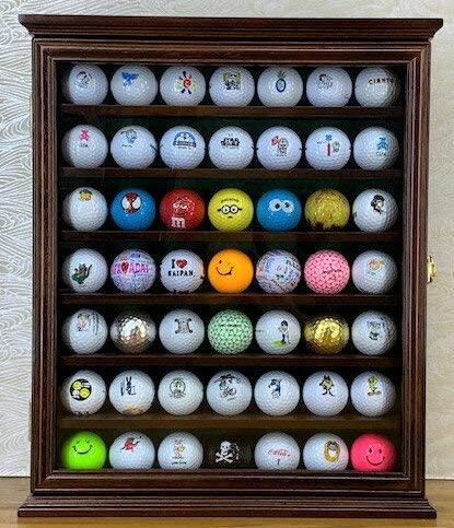 【新品】ゴルフボールディスプレイキャビネット49個の新品ボール付☆ミニオン・スターウォーズなど