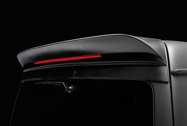 (COLTD) ハイエース 200系 ワイドボディ/ハイルーフ  FEGGARI リアルーフスポイラー未塗装【LEDランプ付】