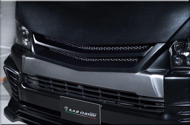 SADカスタム(SAD-CUSTOM) New AGENTタイプ4 200系ハイエースワイドボディ ユーログリル未塗装