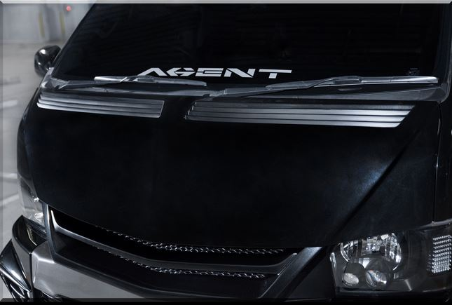 SADカスタム(SAD-CUSTOM) New AGENTタイプ4 200系ハイエースワイドボディ ユーロボンネット未塗装
