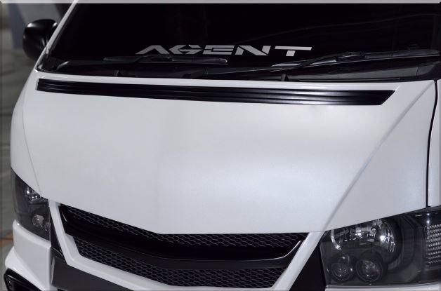 SADカスタム(SAD-CUSTOM) AGENTタイプ4 200系ハイエース標準ボディ ユーロボンネット未塗装