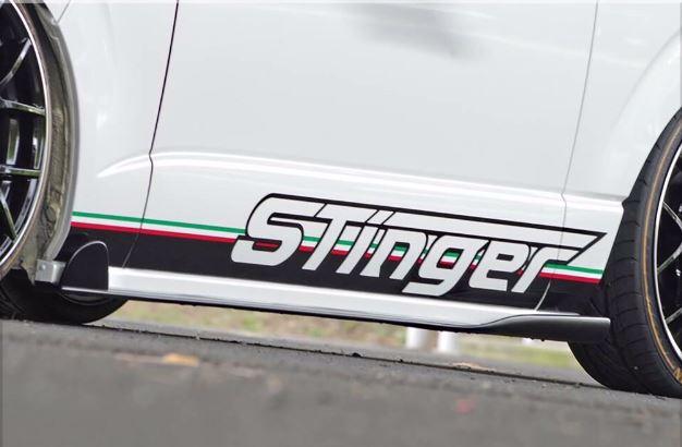 SADカスタム(SAD-CUSTOM) スティンガータイプ4 200系ハイエース標準ボディ サイドステップ未塗装