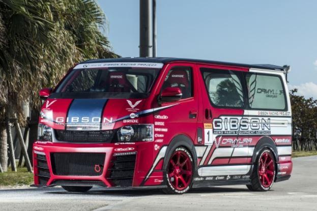 ギブソン(GIBSON) グラファムグレン フロントバンパースポイラーGT アンダーリップFRP/カーボン 4型 200系ハイエース【ノーマルボディ】