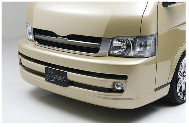 ボクシースタイル(BOXYSTYLE) プレミアムフロントバンパースポイラー未塗装 【ワイド用】 200ハイエースワイドボディ1~2型