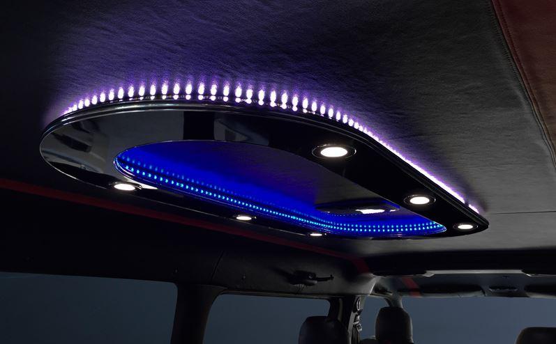 ダイナスティ(Dynasty) オーバルシーリングライト ダウンライト6個 間接照明/外・ホワイト 内・ブルー