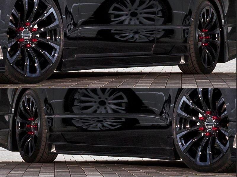 セカンドハウス ヴォーグW4【VOGUE W4】 サイドステップ未塗装 200系ハイエース4型ワイドボディ専用(スーパーロング用)