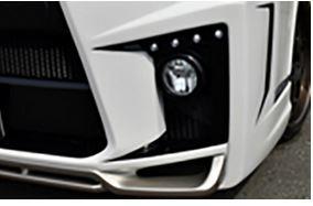 ブレスクリエイション(BLESS CREATION) ブレスエルモードバンパー Cタイプ【デイライトベース+LEDライト横8発セット】 200系ハイエース4型標準ボディナロー用