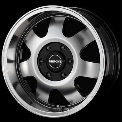 ファブレス(FABULOUS) ヴァローネMK-7 ブラックポリッシュ16インチ 【厳選輸入215/65R16ホイールタイヤセット】 200系ハイエースに最適〈タイヤメーカー選べます!〉