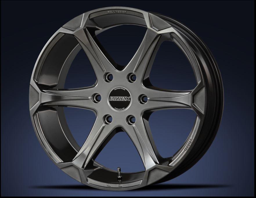 ESSEX(エセックス) EJ ハイパーグロス 18インチ 【厳選輸入225/50R18ホイールタイヤセット】 200系ハイエースに最適〈タイヤ銘柄選べます!〉
