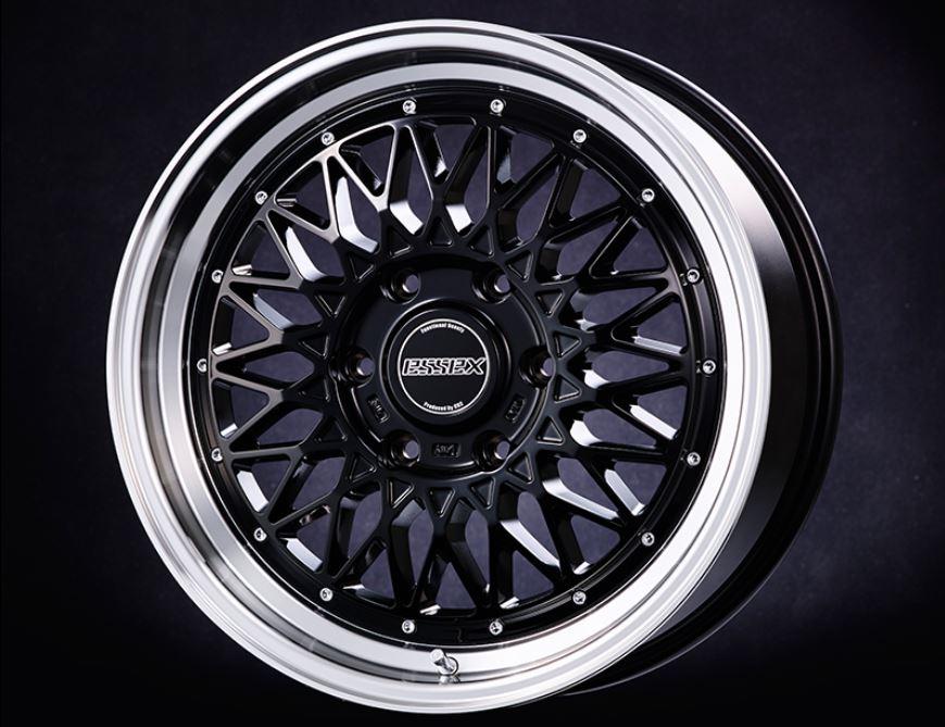 ESSEX(エセックス) ENCM 1P ブラック 18インチ 【厳選輸入225/50R18ホイールタイヤセット】 200系ハイエースに最適〈タイヤ銘柄選べます!〉