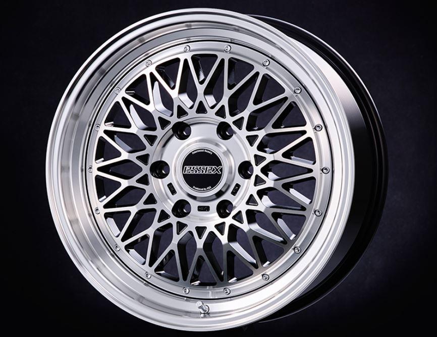 ESSEX(エセックス) ENCM 1P ブラックポリッシュ 18インチ 【厳選輸入225/50R18ホイールタイヤセット】 200系ハイエースに最適〈タイヤ銘柄選べます!〉