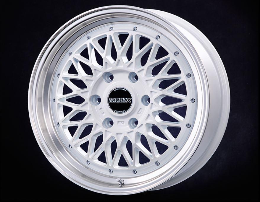ESSEX(エセックス) ENCM 1P ホワイト 18インチ 【厳選輸入225/50R18ホイールタイヤセット】 200系ハイエースに最適〈タイヤ銘柄選べます!〉