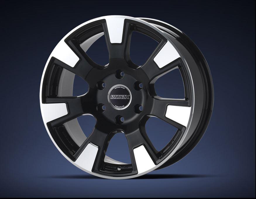 ESSEX(エセックス)ES ブラックポリッシュ 18インチ 【厳選輸入225/50R18ホイールタイヤセット】 200系ハイエースに最適〈タイヤ銘柄選べます!〉