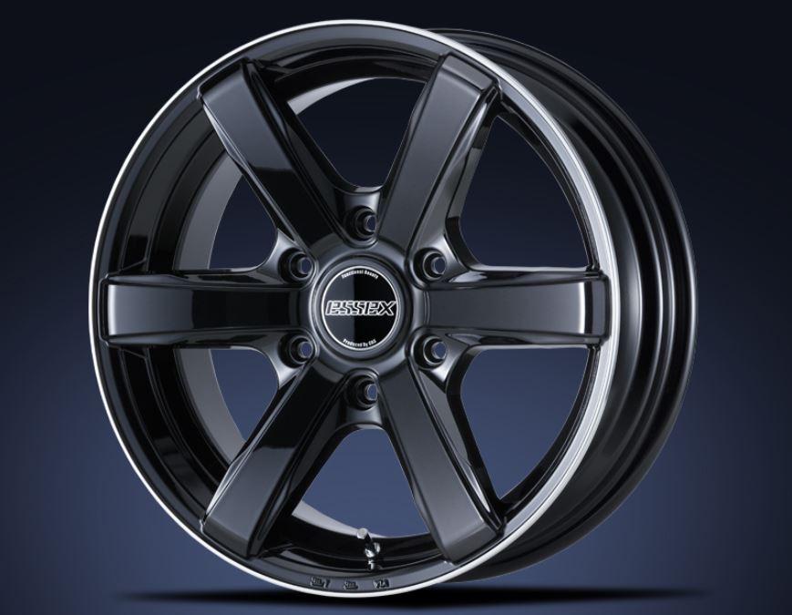 ESSEX(エセックス) EC ブラックリムフランジポリッシュ 20インチ 【厳選輸入225/35R20ホイールタイヤセット】 200系ハイエースに最適〈タイヤ銘柄選べます!〉