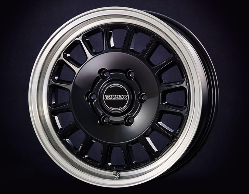 ESSEX(エセックス) ENCD 1ピース ブラック 17インチ 【厳選輸入215/60R17ホイールタイヤセット】 200系ハイエースに最適〈タイヤ銘柄選べます!〉