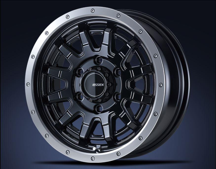 ESSEX(エセックス) EX ブラック 16インチ 【厳選輸入215/65R16ホイールタイヤ4本セット】 200系ハイエースに最適〈タイヤメーカー選べます!〉