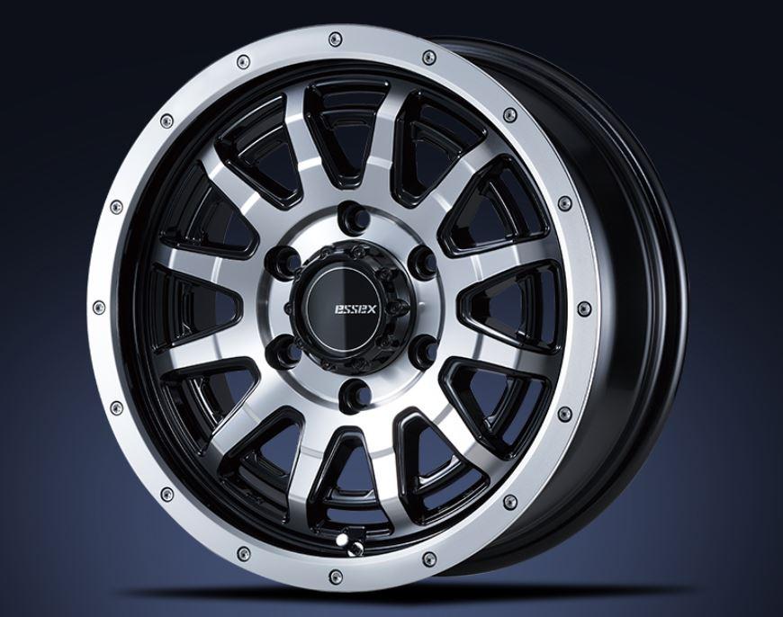 ESSEX(エセックス) EX ブラックポリッシュ 16インチ 【厳選輸入215/65R16ホイールタイヤ4本セット】 200系ハイエースに最適〈タイヤメーカー選べます!〉
