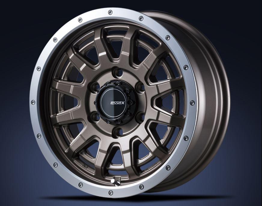 ESSEX(エセックス) EX セミグロスブロンズ 16インチ 【厳選輸入215/65R16ホイールタイヤ4本セット】 200系ハイエースに最適〈タイヤメーカー選べます!〉