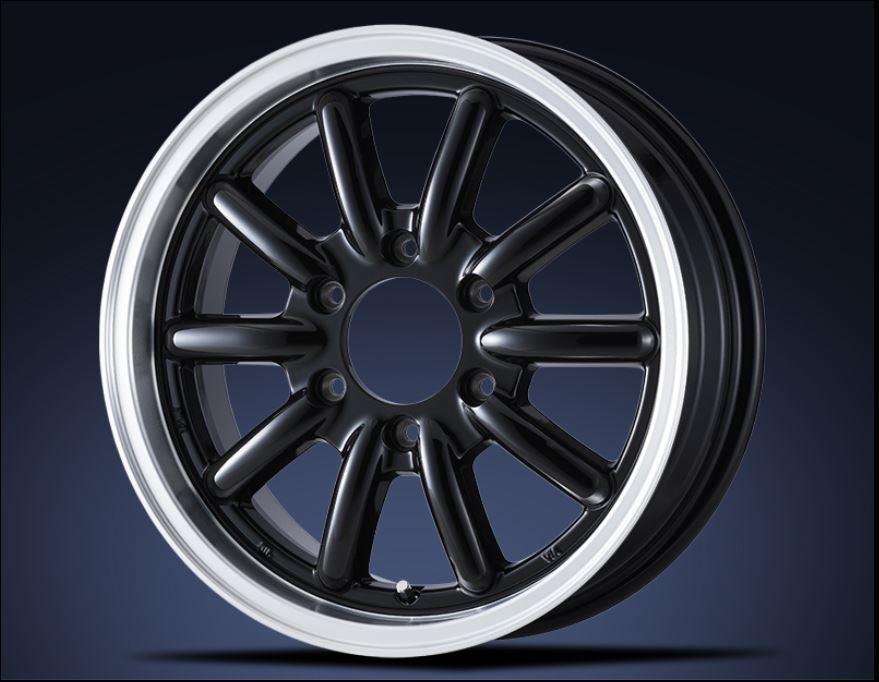 ESSEX(エセックス) ENCB 1ピース ブラック 17インチ 【厳選輸入215/60R17ホイールタイヤセット】 200系ハイエースに最適〈タイヤ銘柄選べます!〉
