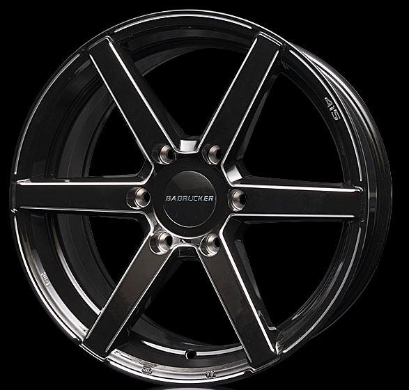 415コブラ バッドラッカーSD-6 ブラックBX 18インチ 【厳選輸入225/50R18ホイールタイヤセット】 200系ハイエース最適〈タイヤ銘柄選べます!〉