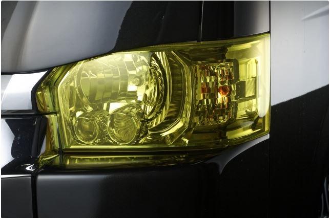 Hearts(ハーツ) ヘッドライトカバー 【イエロー】 200系ハイエース4型専用