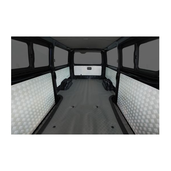 ギブソン(GIBSON) 縞鋼板調サイドウォールパネル5枚セット(ラメ無し) 200系ハイエースバンDX専用(個人宅直送不可商品)