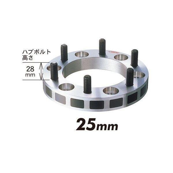 キックス(KICS/KYO-EI)ワイドトレッドスペーサー 6H PCD139.7 25mm 2枚1セット