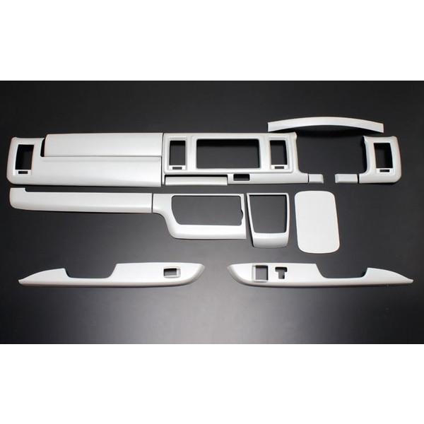 フェガーリ ハイエース 200系 4型標準用 トップグレードシリーズ インテリアパネル  14ピース パールホワイト