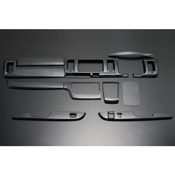 フェガーリ ハイエース 200系 4型標準用 トップグレードシリーズ インテリアパネル  14ピース 黒木目