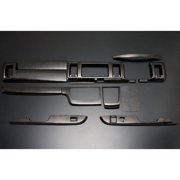 フェガーリ ハイエース 200系 4型ワイド用 トップグレードシリーズ インテリアパネル  14ピース マホガニー