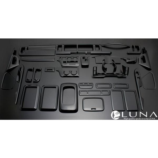 フェガーリ ハイエース 200系 1~3型ワイド用 インテリアパネル 35ピース ピアノブラック