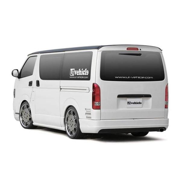 ユーアイビークル(UI-Vehicle) Forbitoリアバンパースポイラー未塗装 200系ハイエース 標準ボディ用