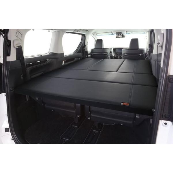 ユーアイビークル(UI-Vehicle) 30系アルファード&ヴェルファイア専用ベッドキット ブラックレザー&ディンプルレザー