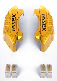 200系ハイエースエセックス(CRS)キャリパーカバーVer2キャンディイエロー