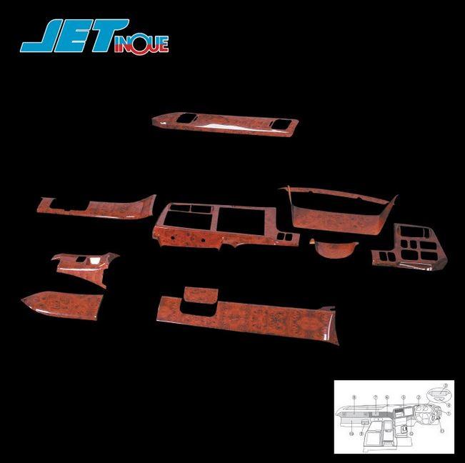 ジェットイノウエ JETINOUE インテリア3Dパネル スーパーグレート用基本セット12点 三菱ふそう 595421/595422