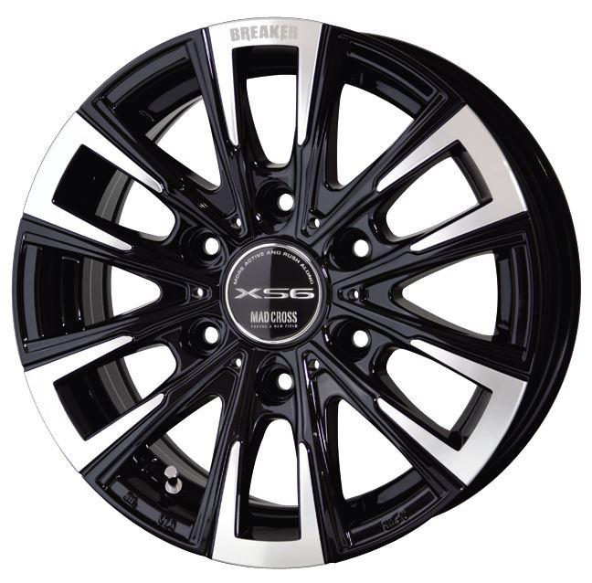 スタッドレス マッドクロス ブレイカーXS6 ブラックポリッシュ 15インチ【厳選輸入195/80R15ホイールタイヤ4本セット】ハイエースに最適〈タイヤ銘柄選べます〉