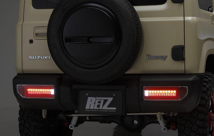REIZ 流星バージョン オールLEDテールランプVer1 スモークレンズインナーブラッククローム/レッドバー ジムニー(JB64W)/ジムニーシエラ(JB74W)※AT車専用