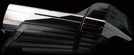 ヴァレンティ(valenti) 30ヴェルファイア後期 ジュエルLEDテールレンズREVOシーケンシャルタイプ ライトスモーク/ブラッククローム TT30VEL-SB-4
