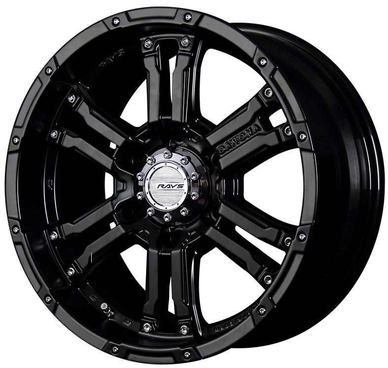 レイズ デイトナFDX セミグロスブラック 17インチ【265/65R17ホイールタイヤセット】ランクルプラド150に最適〈タイヤ銘柄選べます!〉