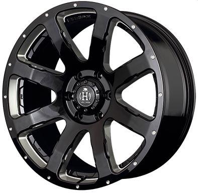 レイズ フルクロス クリスクロスバイライト ブラックマシニング 20インチ【265/50R20ホイールタイヤセット】ランクルプラド150に最適〈タイヤ銘柄選べます〉