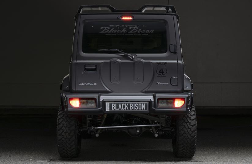 WALD(ヴァルド) SPORTS LINE BLACK BISON EDITION リアバンパースポイラー未塗装 ABS製 ジムニー シエラ