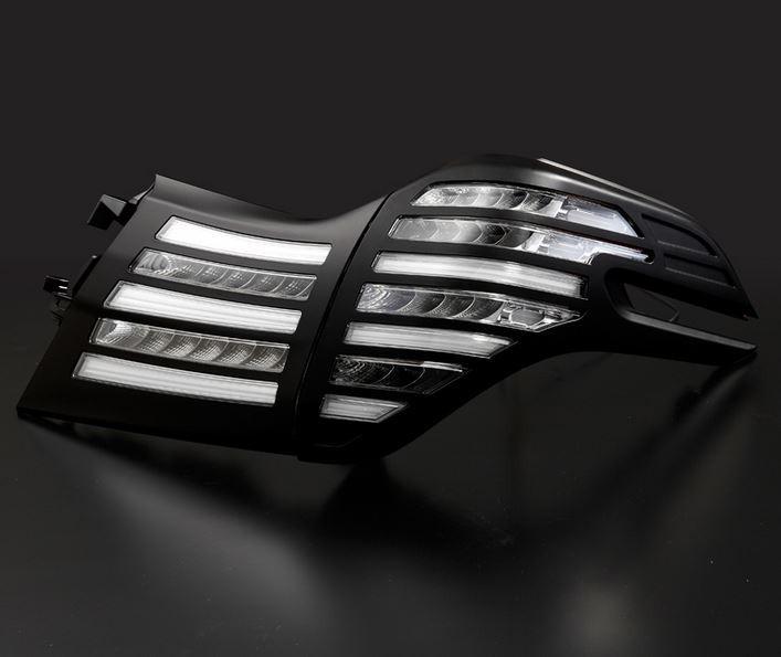 メテオ(METEO) LEDテール クリアテール&マットブラックカバー 30系ヴェルファイア・30系アルファード