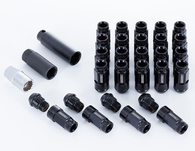 エセックス(ESSEX/CRS)2Pシェルナット ローレットタイプ ブラック 17HEX-M12 16本入り